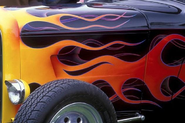 classic car flame job