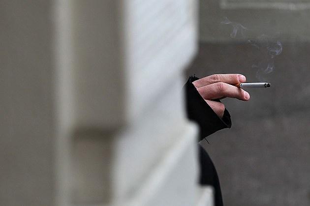 smoking outside